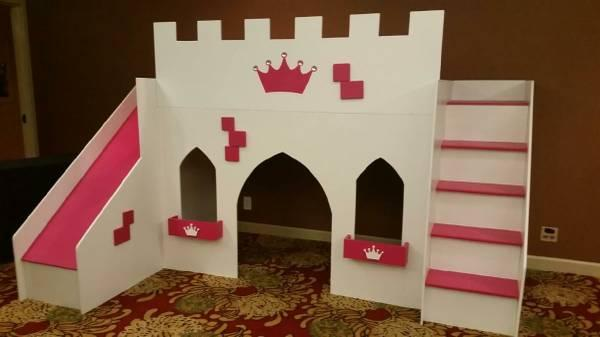 Princess Palace loft bed with SLIDE