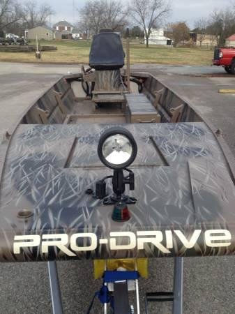 Pro Drive 1854 Mud Boat W Airboat Style Stick Steer Mud