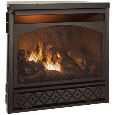 ProCom 37 in. Vent-Free Dual Fuel Fireplace Insert for ...