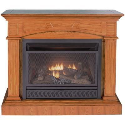 Procom 44 In Convertible Vent Free Dual Fuel Gas Fireplace In Medium Oak For Sale In San