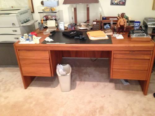professional home office desk teak wood for sale in
