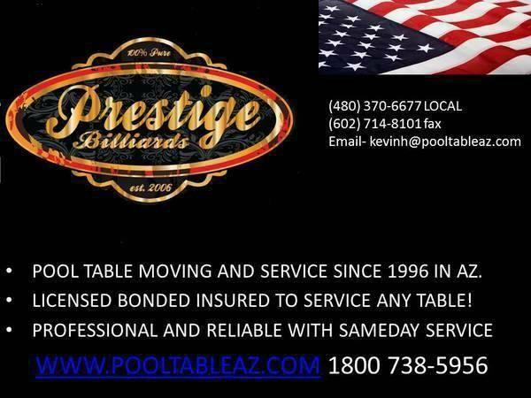 Professional Pool Table Moving Service Work Lic Bonded - Pool table movers phoenix