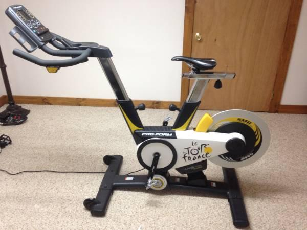 proform tour de france stationary bike for sale in. Black Bedroom Furniture Sets. Home Design Ideas