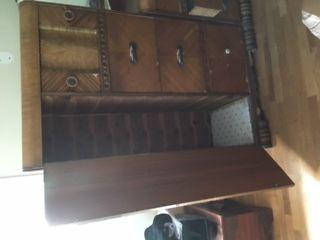 Prohibition era beveled mirror dresser and gentleman's