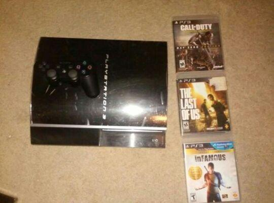 PS3 Fat 40GB Refurbished w/ Games (Playstation 3)