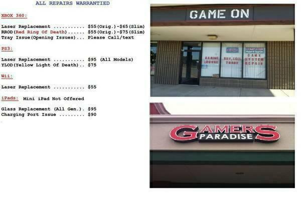 *****PS3, XBOX 360, WII & IPad REPAIRS @ GAME ON &