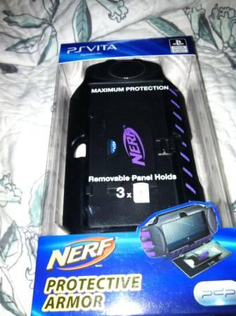 Psvita Starter Kit Purple Play Station Pdp Nerf Protective Armor New