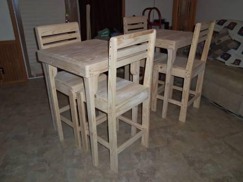 Pub Table And 2 Chairs New Unfinished For Sale In