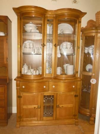 Pulaski Curved Glass China Cabinet  Hutch - $695