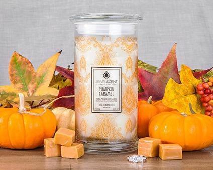 Pumpkin Caramel JewelScent candle