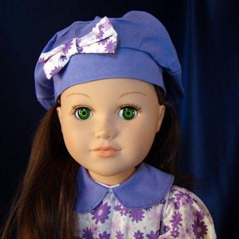 Purple Long Dress, Hat  Shoes Too American Girl 18 Doll Clothes