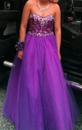 Purple prom dress - $300