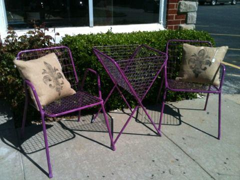 Purple Mid Century Outdoor Furniture - $99 (Springfield - Talula's) in