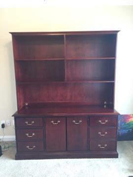 Superbe Quality Credenza / Hutch / Book Shelf / Office Furniture For Sale In  Louisville, Kentucky