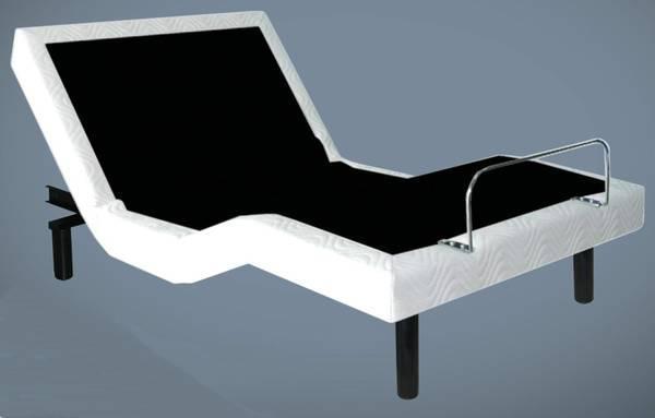 queen adjustable bed and cool gel memory foam mattress