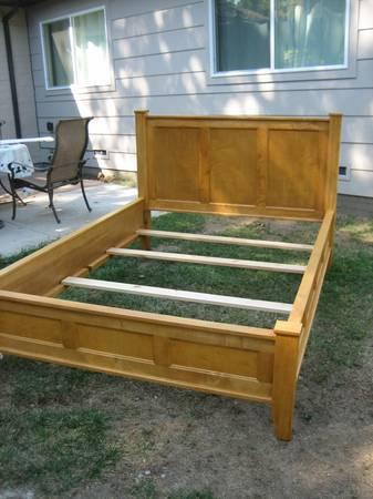 Queen Bed Frame in Solid Maple - $375