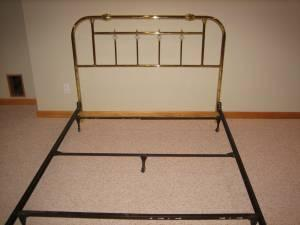 queen bed frame w/ brass headboard  dubuque, ia for sale in, Headboard designs