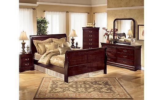 Queen Cherry Sleigh Bedroom Set Ashland For Sale In