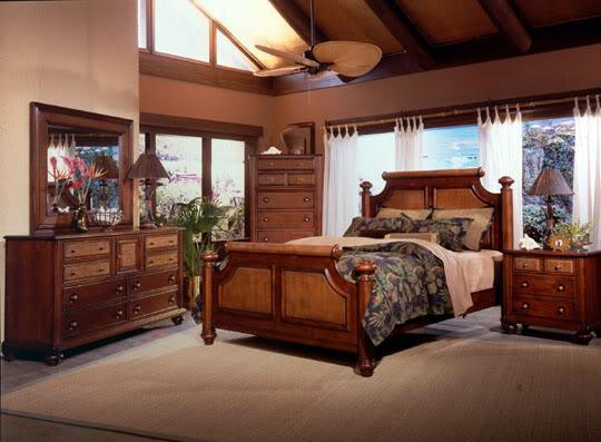 Queen ISLAND HOUSE Bedroom SET Caribbean Style NEW