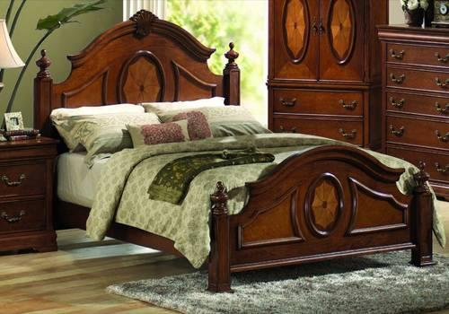 Queen Size Bed Cherry Headboard Frame Ortho Tech 4000