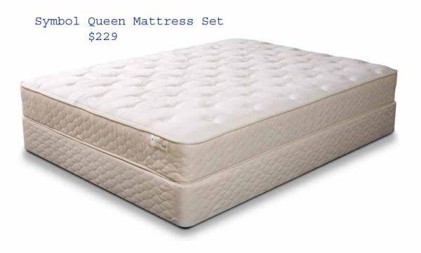 Queen Mattress Set New In Plastic Foam Topped Warranty