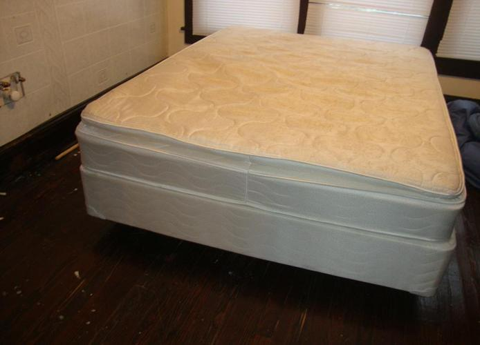 QUEEN SIZE BED MATTRESS BOX SPRINGS AND RAILS - (GREENSBORO) for Sale in Greensboro, North ...