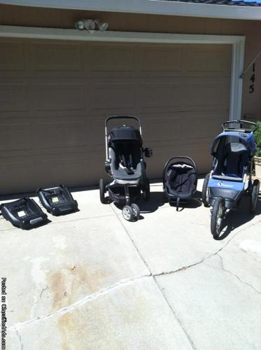 Quinny infant car seat, two bases, Stroller w/adapters ...