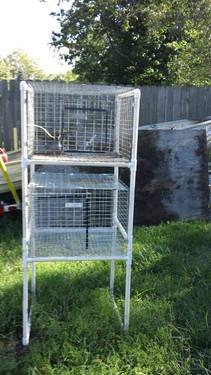 Rabbit cage pvc frame/holder