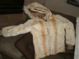 Rabbit Fur Jacket- size small, womens - $119 (CO