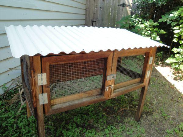 Rabbit Hutch Sturdy Cedar For Outdoor Rabbit Near