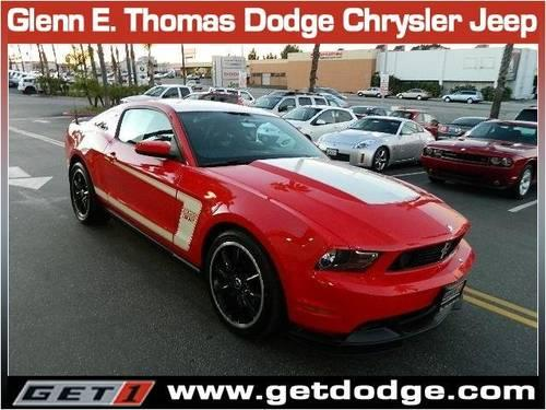 Race Red 2012 Ford Mustang Boss 302 just 11536 Mi.