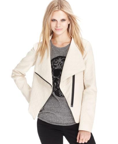 RACHEL Rachel Roy Embossed Faux-Leather Jacket