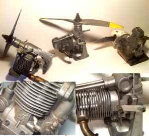 radio control of RC gas airplane motor engines OS Surpass