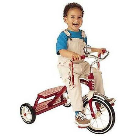 Radio Flyer Classic 12 inch Red Dual Deck Tricycle - $29