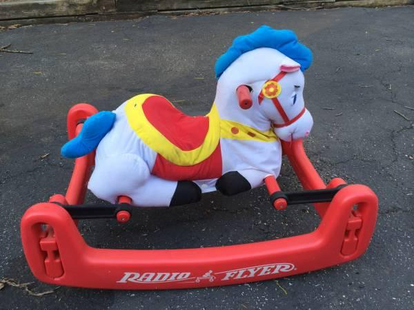 Radio Flyer Soft Rock & Bounce Pony w/removable child