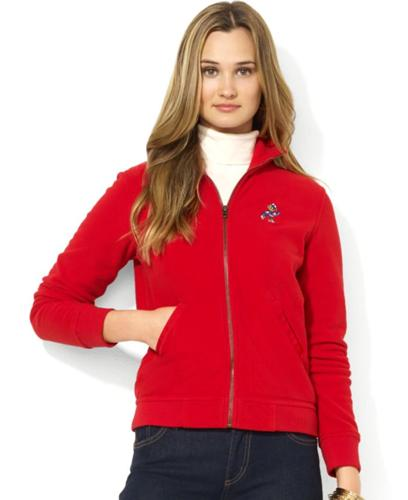 Ralph Lauren Embroidered Polo Bear Zip-Up Fleece