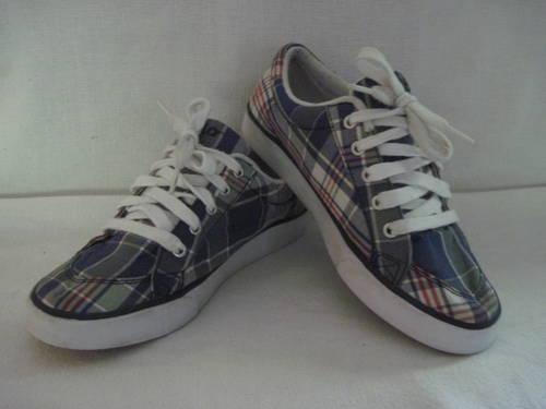 Ralph Lauren Polo Plaid Tennis Sneaker Shoes Men S 6