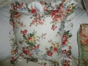 Ralph Lauren ruffled accent pillow, twin flat sheet -