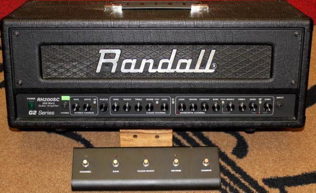 Randall RH200SCG2 200W Stereo Guitar Amp Head