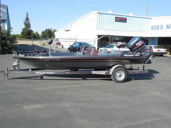 ranger 363v bass boat   1990 boat in modesto ca