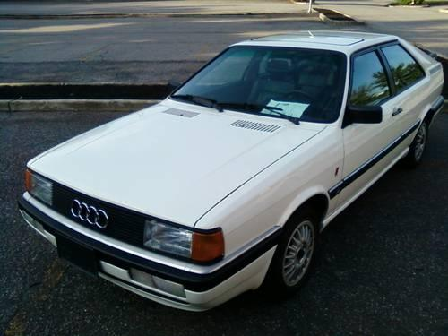 rare 1 owner 1985 audi coupe gt 138k auto a c sunroof power options for sale in east fishkill. Black Bedroom Furniture Sets. Home Design Ideas