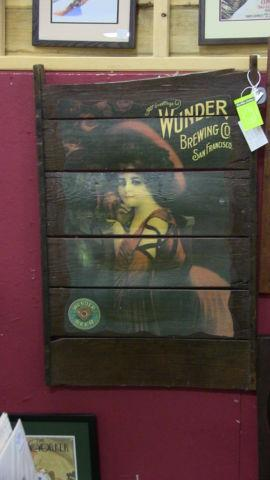 Rare 1907 Wunder Brewing Sign