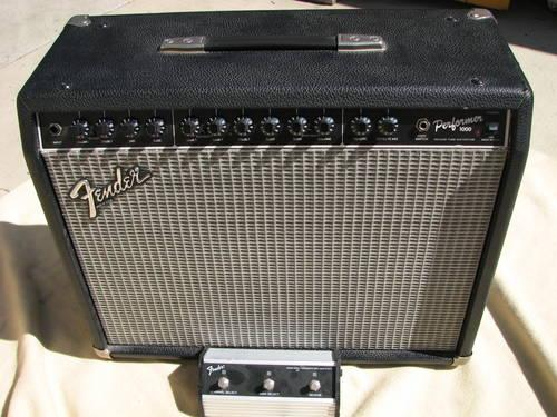 RARE * 1993 Fender Performer 1000 1x12 Amp and footpedal ...