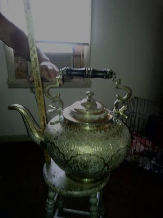 Rare 19th century 4 gallon brass Teapot - $1000
