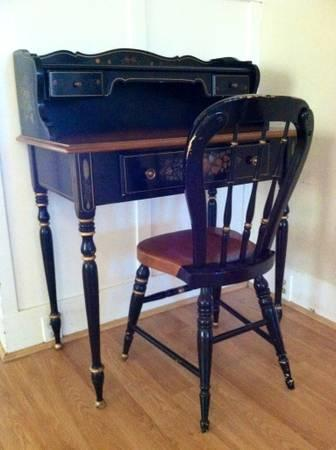 Rare antique ethan allen writing desk chair for sale American classic furniture company