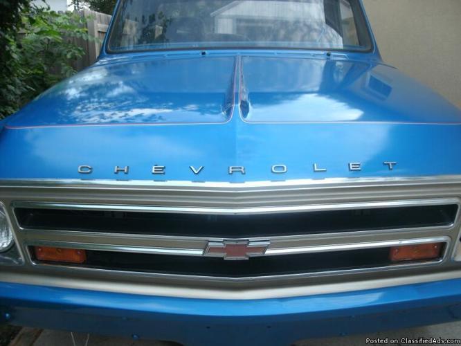 Rare Custom 1968 Classic Chevy C20 Pickup Truck W Wood Bed