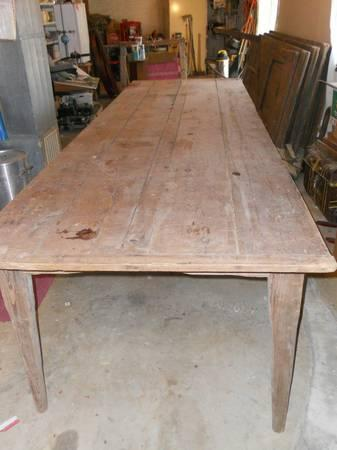 Exceptionnel Rare Extra Large Antique Harvest Table, Price Slashed