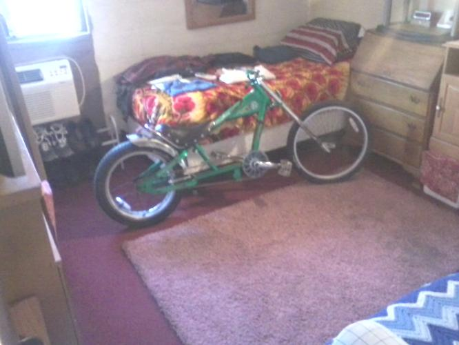 Rare Green Schwinn Stingray OC Choppers Lowrider Bicycle