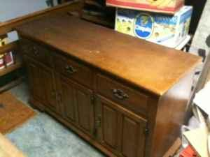 Rare Older Keller Brand Hard Maple Solid Wood Three Drawer Hutch Bedford For Sale In