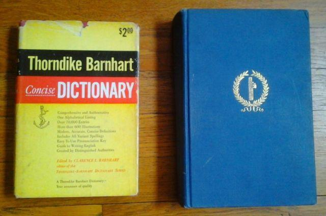 RARE BOOKS: Plutarch's Lives -- 1935; Dictionary - 1958